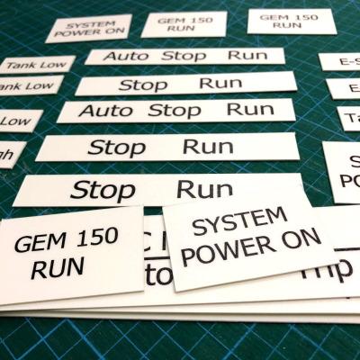 self adhesive machine label name plate tag thick