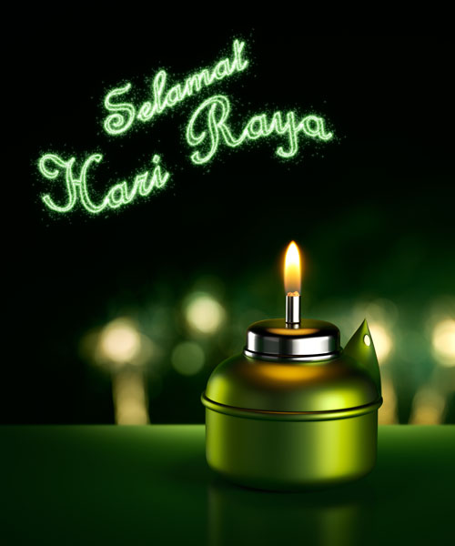Aidilfitri Eidulfitri Eid Mubarak Hari Raya Green Packets